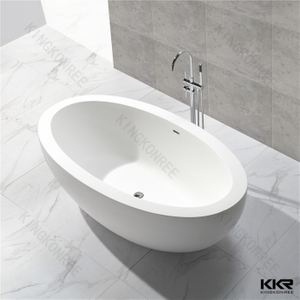 Ellipse acrylic solid surface bathtub KKR-B048