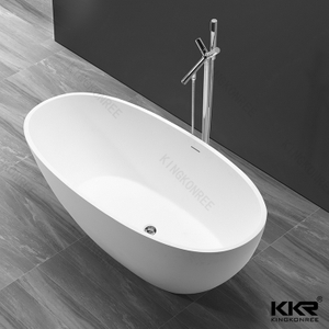 White matte bathtub KKR-B068